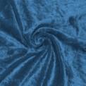 Panne de velours bleue au rouleau