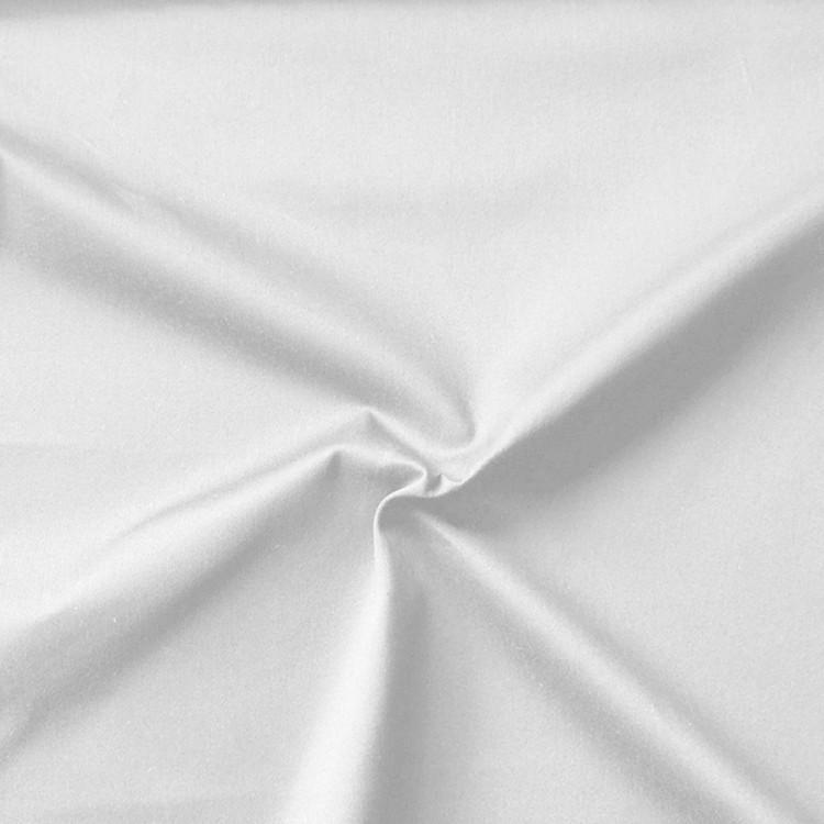 Satin de coton blanc