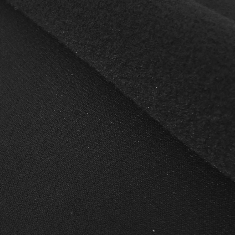 Lycra polaire (warm up) noir au mètre