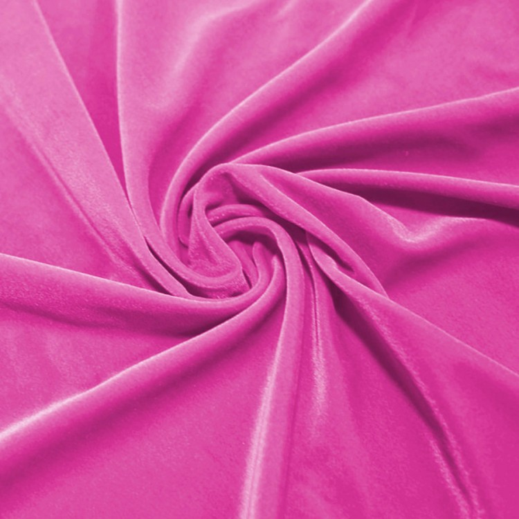 Velours lycra rose fuschia