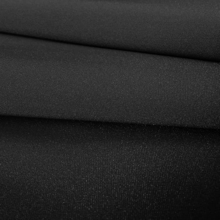 Lycra brillant noir