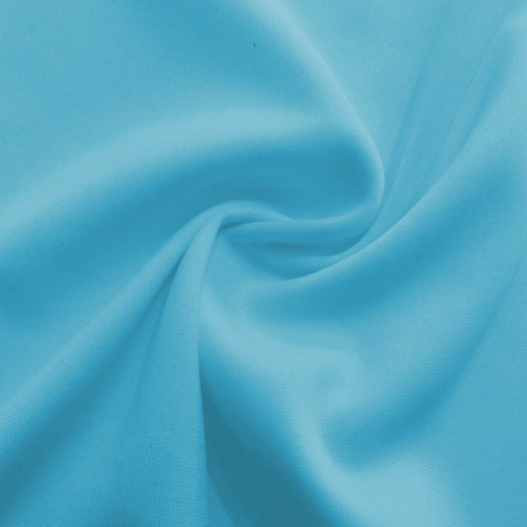 Jersey interlock turquoise au mètre
