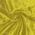 Panne de velours jaune au rouleau