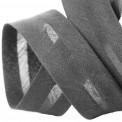 Biais polycoton gris foncé au mètre et rouleau