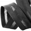 Biais polycoton noir au mètre et rouleau