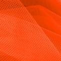 Tulle orange fluorescent au mètre