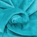 Tissu doudou turquoise au mètre