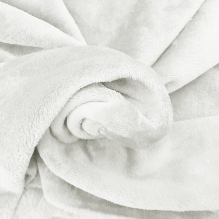 Tissu doudou blanc au mètre