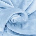 Tissu doudou bleu ciel au mètre