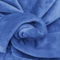 Tissu doudou bleu au mètre