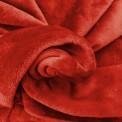 Tissu doudou rouge au mètre