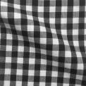 Tissu vichy noir au mètre