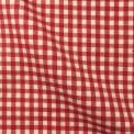 Tissu vichy petit carreaux rouge