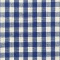 Tissu vichy bleu au mètre