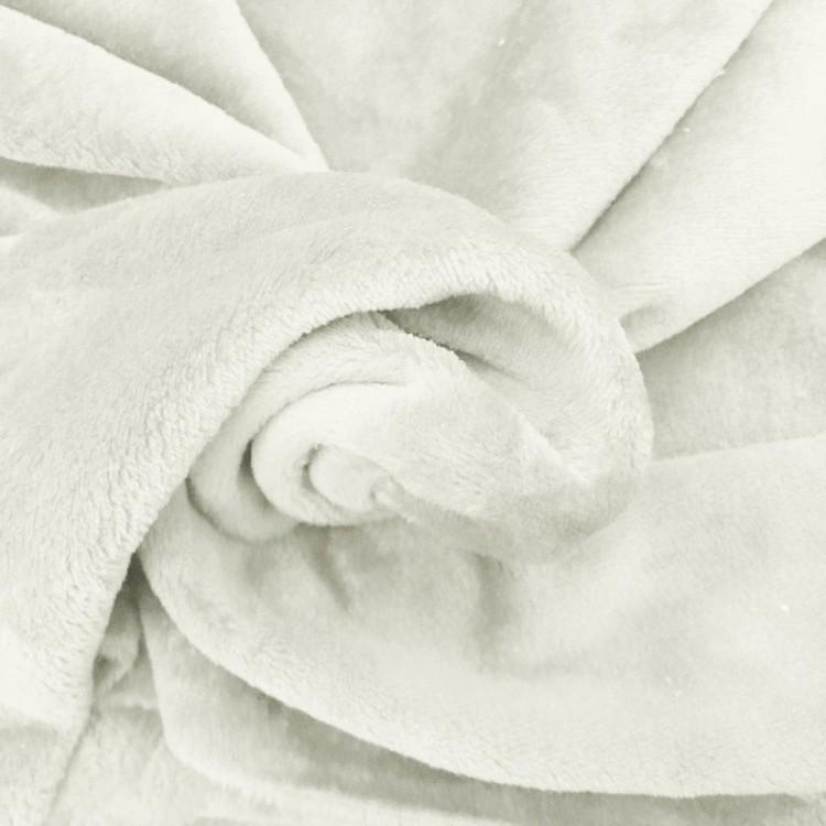 Tissu doudou ivoire