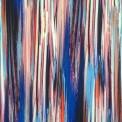 lycra rayure bleu