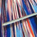 tissu lycra rayure bleu