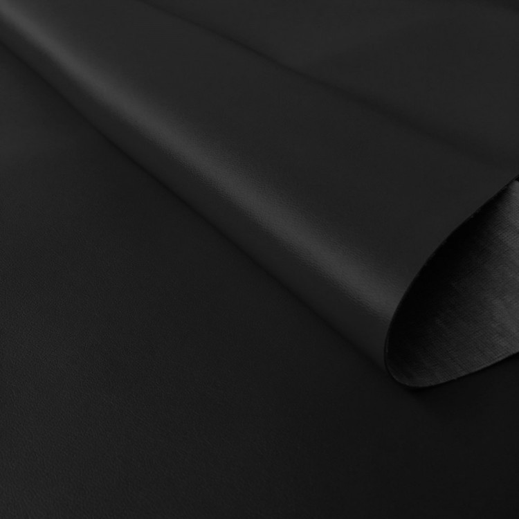 Similicuir lisse noir au rouleau