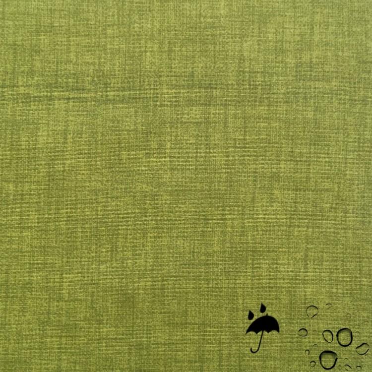 Tissu enduit vert