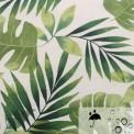 Tissu enduit imprimé tropical