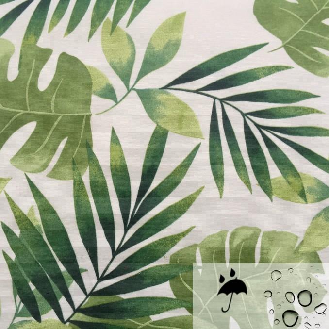 Tissu enduit imprimé tropique