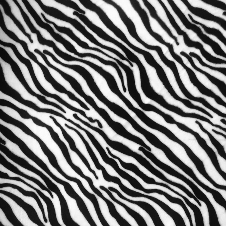Fausse fourrure zebre