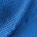 Tissu paillettes rondes bleu