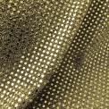 Tissu paillettes rondes or