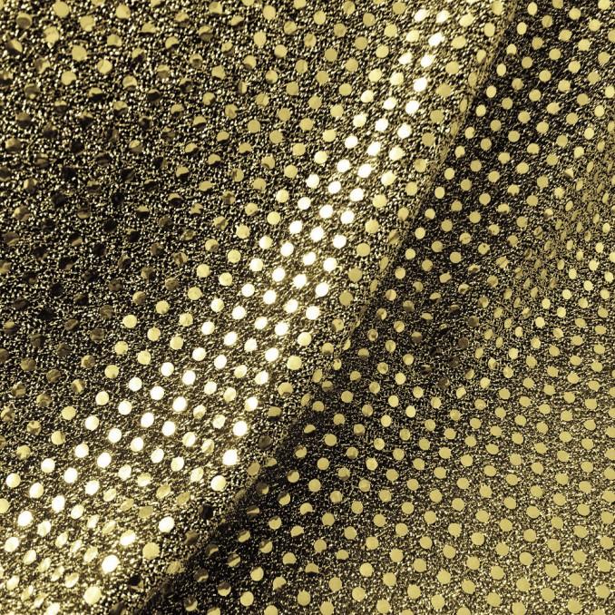 Tissu paillettes rondes