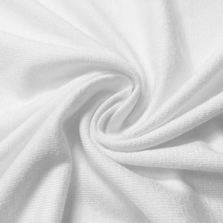 Jersey viscose blanc