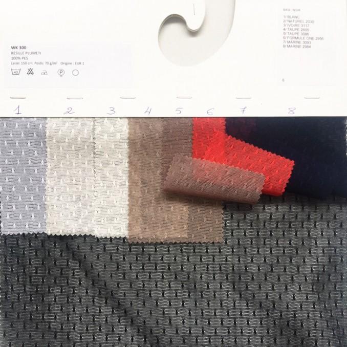 Carte couleur résille plumetis