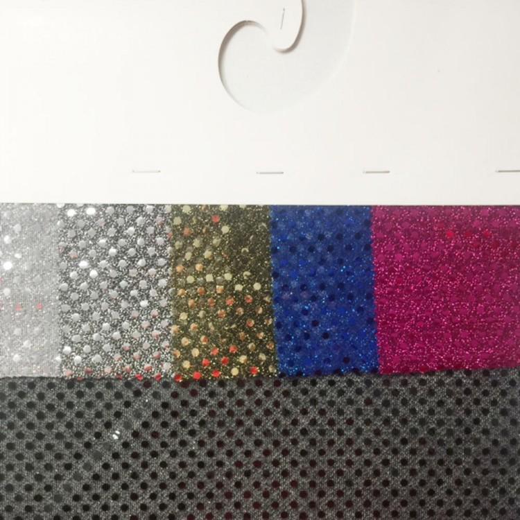 Carte couleur tissu paillettes