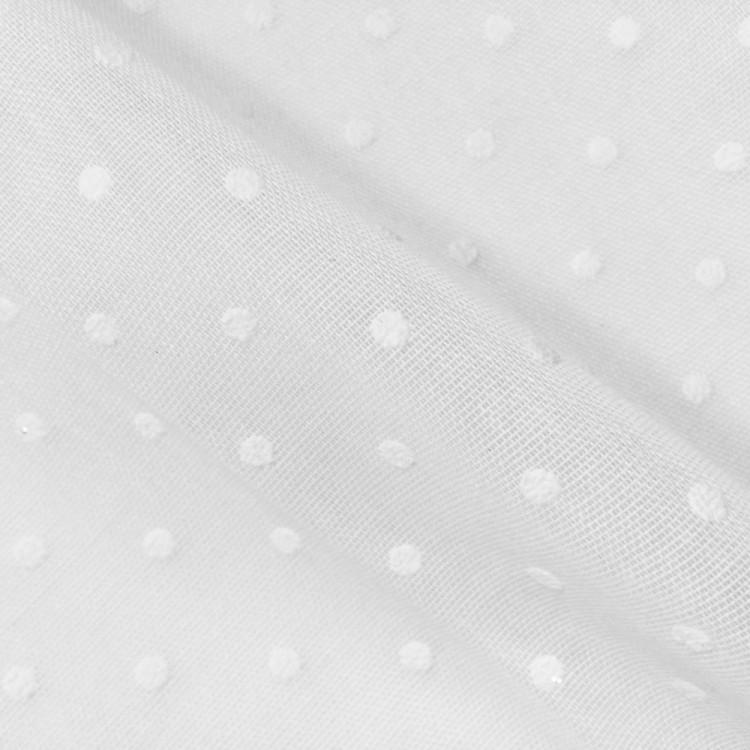 Voilage grande largeur plumetis blanc
