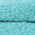 Tissu éponge coton turquoise