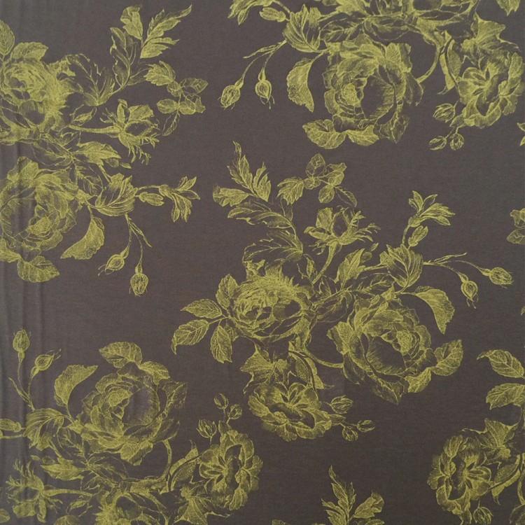 viscose print floral vert