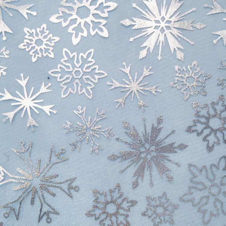 Organza reine des neiges bleu