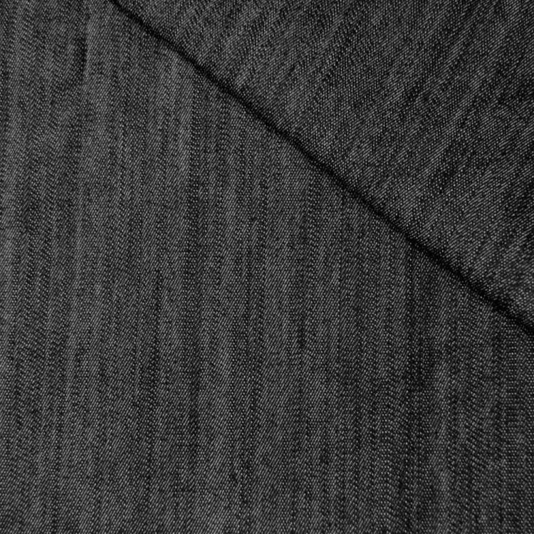 faux jean strech flamme noir