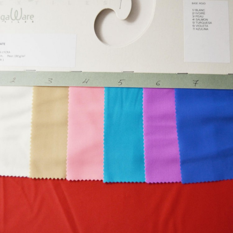 Carte couleur lycra mat