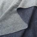 Tissu molleton bleu jean