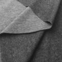 Tissu molleton gris chiné