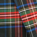 Tissu écossais fond noir