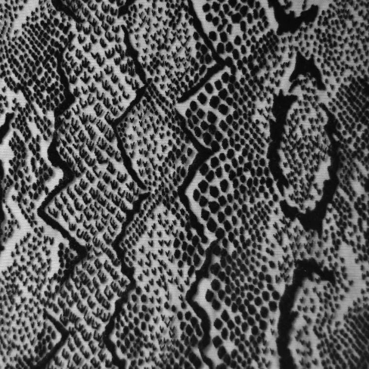 Résille flockée serpent