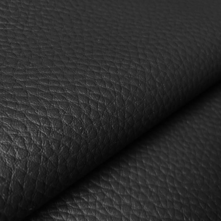 Simili cuir ameublement noir au rouleau