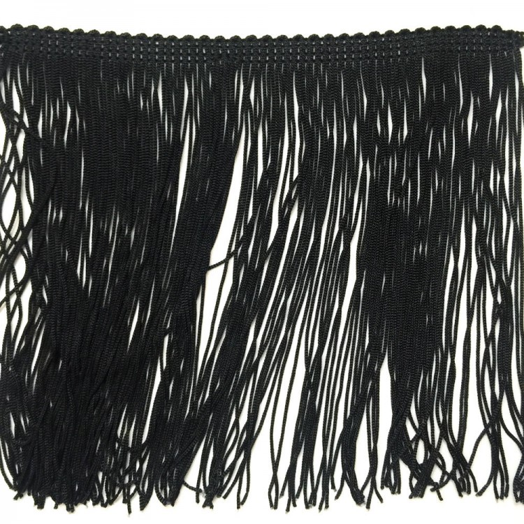Grande frange noire 30 cm