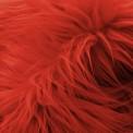 Fausse fourrure poil long rouge