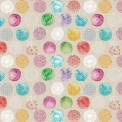Coton imprimé nature colorée