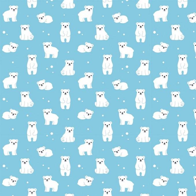 Coton imprimé ours polaire enfants