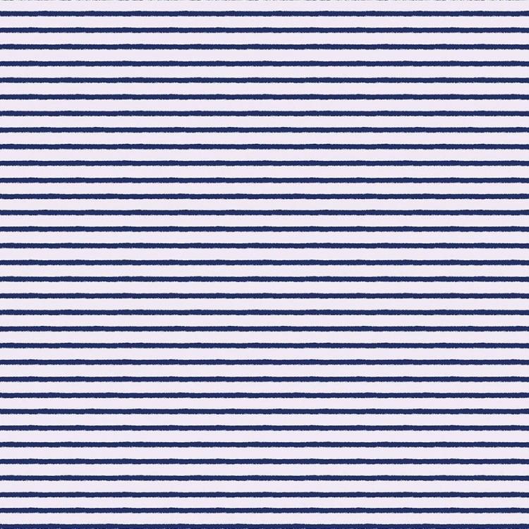 Coton imprimé rayures marin
