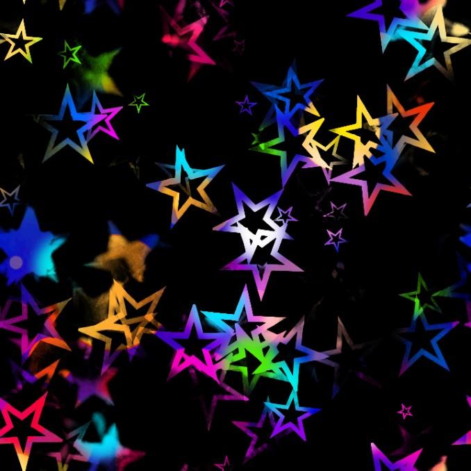 Lycra imprimé étoiles