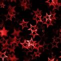 Lycra imprimé étoiles rouge
